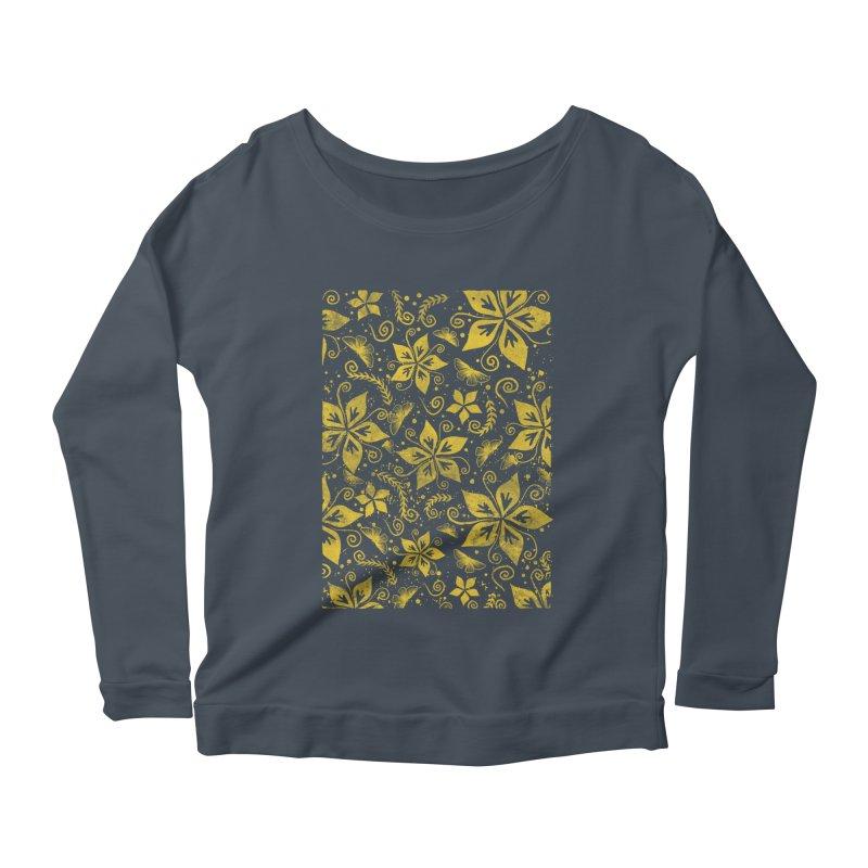 Batik Women's Scoop Neck Longsleeve T-Shirt by RLLBCK Clothing Co.