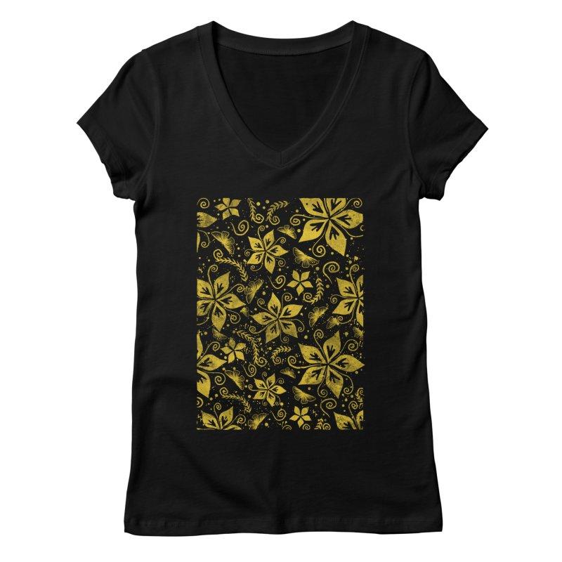 Batik Women's Regular V-Neck by RLLBCK Clothing Co.