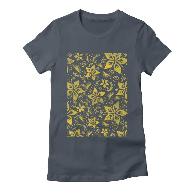 Batik Women's Fitted T-Shirt by RLLBCK Clothing Co.