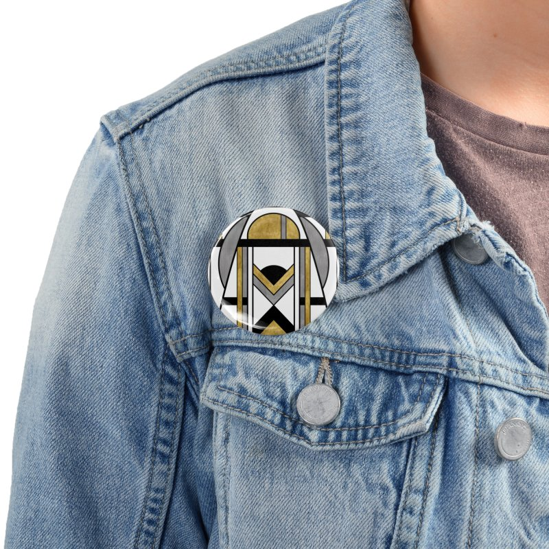Up & Away - Art Deco Spaceman Accessories Button by RML Studios: The Art & Design of Ryan Livingston
