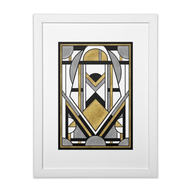 Up & Away - Art Deco Spaceman Home Framed Fine Art Print by RML Studios: The Art & Design of Ryan Livingston