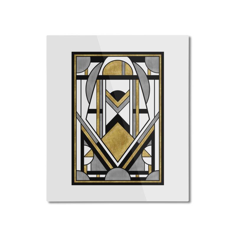 Up & Away - Art Deco Spaceman Home Mounted Aluminum Print by RML Studios: The Art & Design of Ryan Livingston