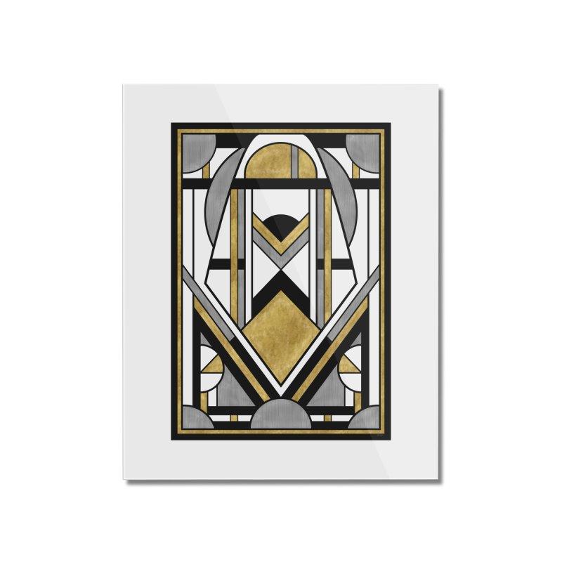 Up & Away - Art Deco Spaceman Home Mounted Acrylic Print by RML Studios: The Art & Design of Ryan Livingston