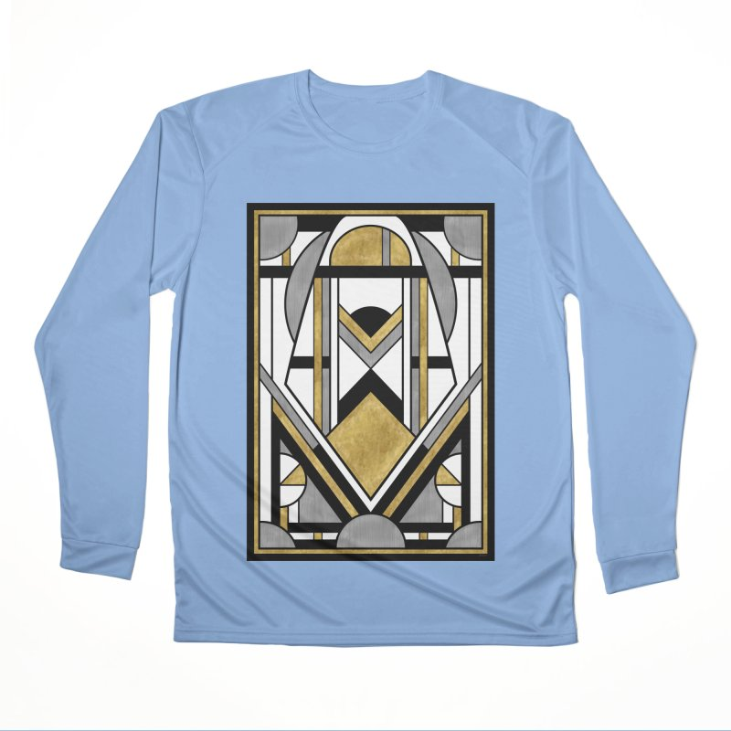 Up & Away - Art Deco Spaceman Women's Longsleeve T-Shirt by RML Studios: The Art & Design of Ryan Livingston