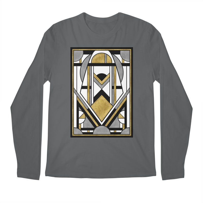 Up & Away - Art Deco Spaceman Men's Longsleeve T-Shirt by RML Studios: The Art & Design of Ryan Livingston