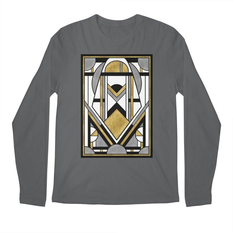 Up & Away - Art Deco Spaceman Men's Longsleeve T-Shirt by RML Studios: The Art & Design of Ryan Livingston