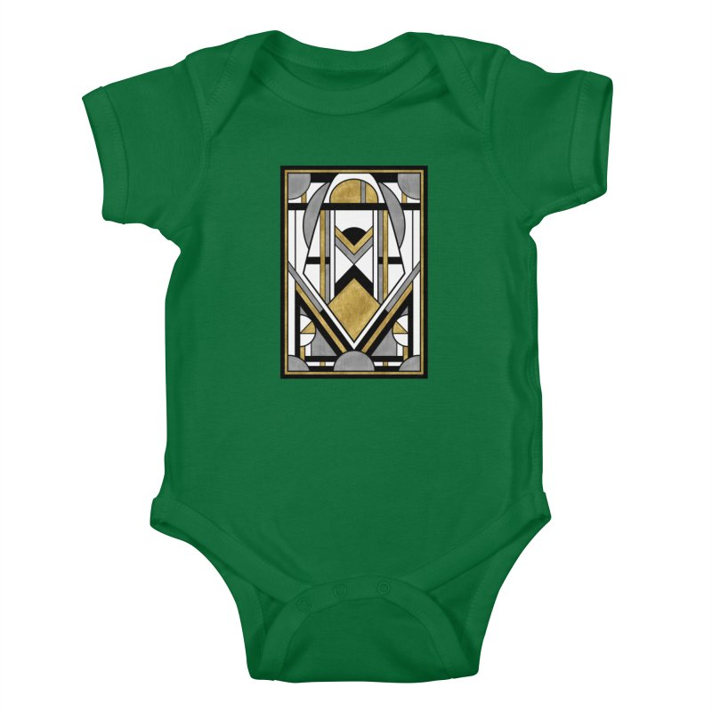 Up & Away - Art Deco Spaceman Kids Baby Bodysuit by RML Studios: The Art & Design of Ryan Livingston