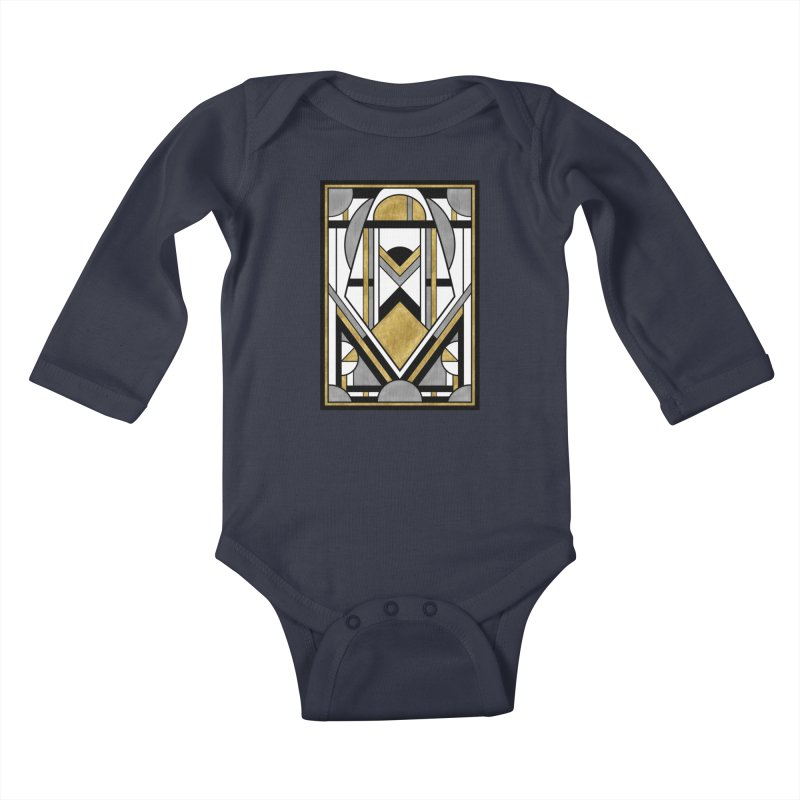 Up & Away - Art Deco Spaceman Kids Baby Longsleeve Bodysuit by RML Studios: The Art & Design of Ryan Livingston