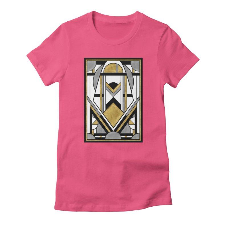 Up & Away - Art Deco Spaceman Women's T-Shirt by RML Studios: The Art & Design of Ryan Livingston