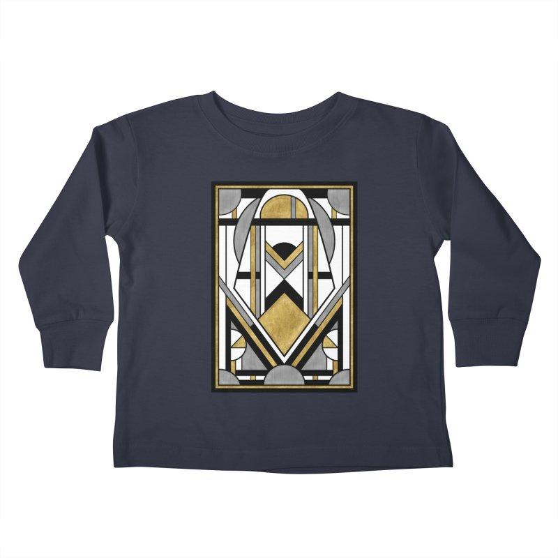 Up & Away - Art Deco Spaceman Kids Toddler Longsleeve T-Shirt by RML Studios: The Art & Design of Ryan Livingston