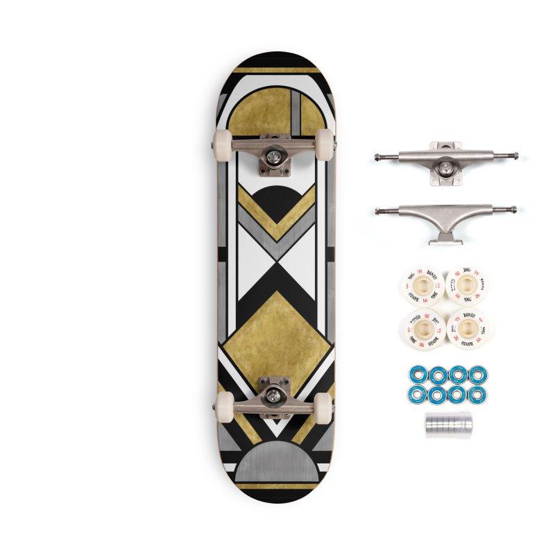 Up & Away - Art Deco Spaceman Accessories Skateboard by RML Studios: The Art & Design of Ryan Livingston