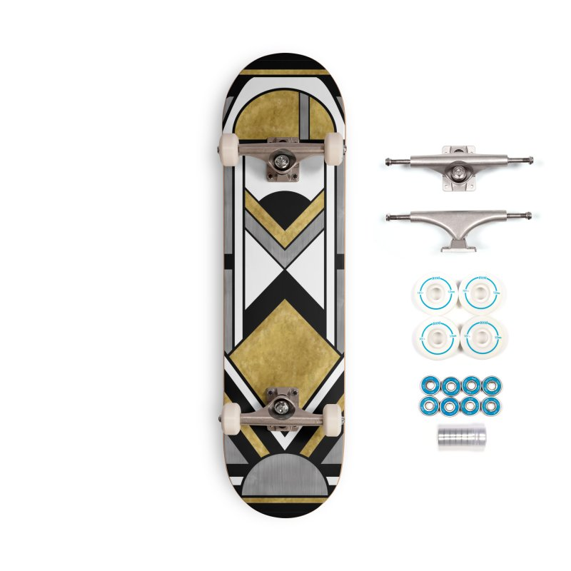 Up & Away - Art Deco Spaceman Accessories Skateboard by RML Studios: The Art & Design of Ryan Livingston