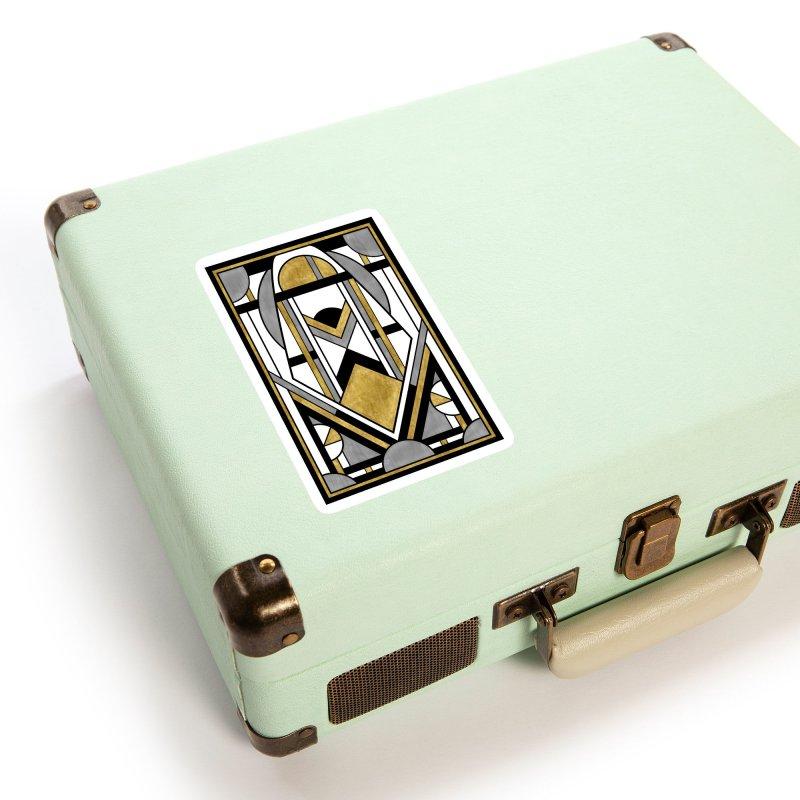 Up & Away - Art Deco Spaceman Accessories Sticker by RML Studios: The Art & Design of Ryan Livingston