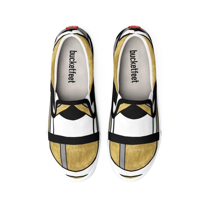 Up & Away - Art Deco Spaceman Women's Shoes by RML Studios: The Art & Design of Ryan Livingston