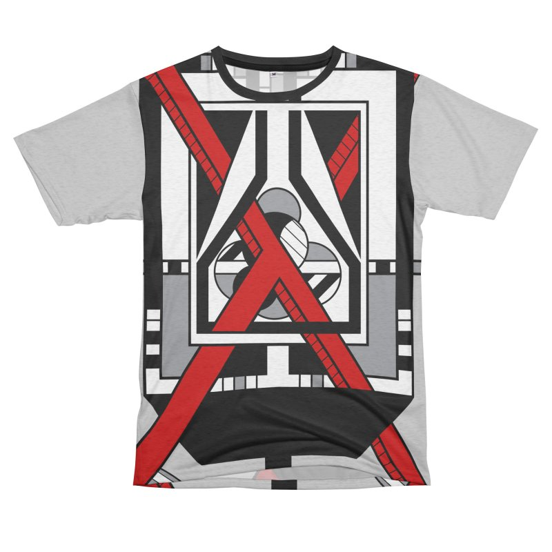 Red X - Geometric Op Art Design Men's Cut & Sew by RML Studios: The Art & Design of Ryan Livingston