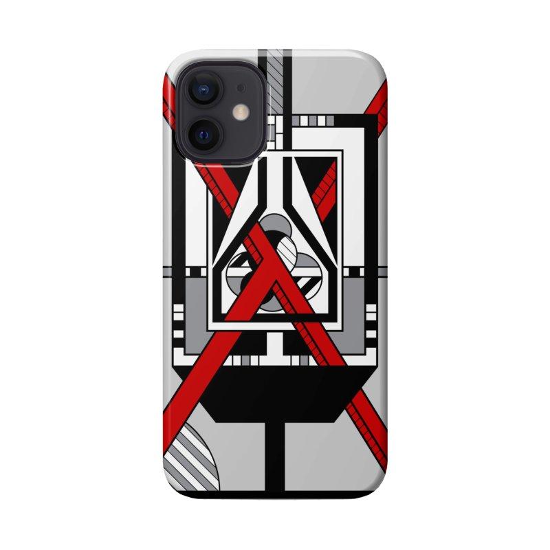 Red X - Geometric Op Art Design Accessories Phone Case by RML Studios: The Art & Design of Ryan Livingston