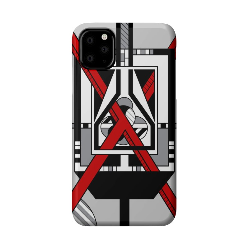 Red X - Geometric Op Art Design Accessories Phone Case by RML Studios: The Art & Design of Ryan Livingston