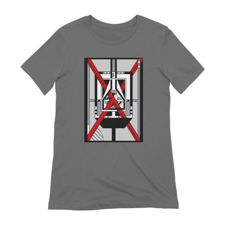 Red X - Geometric Op Art Design Women's T-Shirt by RML Studios: The Art & Design of Ryan Livingston