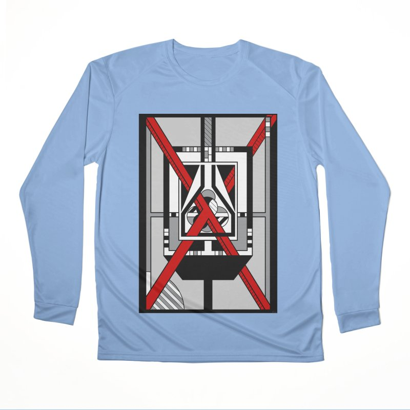 Red X - Geometric Op Art Design Men's Longsleeve T-Shirt by RML Studios: The Art & Design of Ryan Livingston