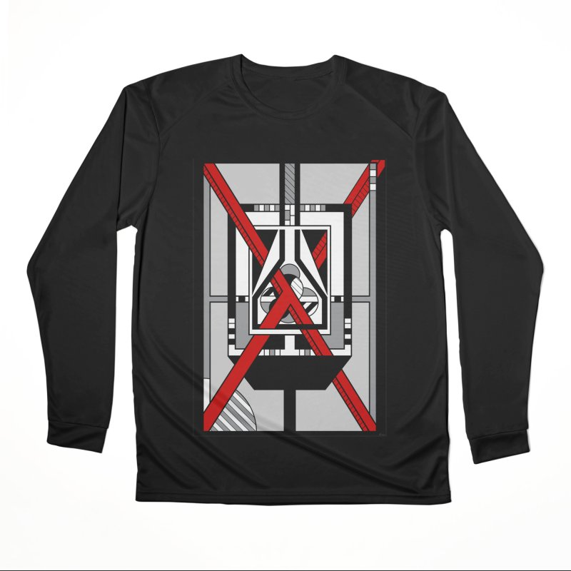 Red X - Geometric Op Art Design Men's Longsleeve T-Shirt by RML Studios: The Art & Design of Ryan Livingston