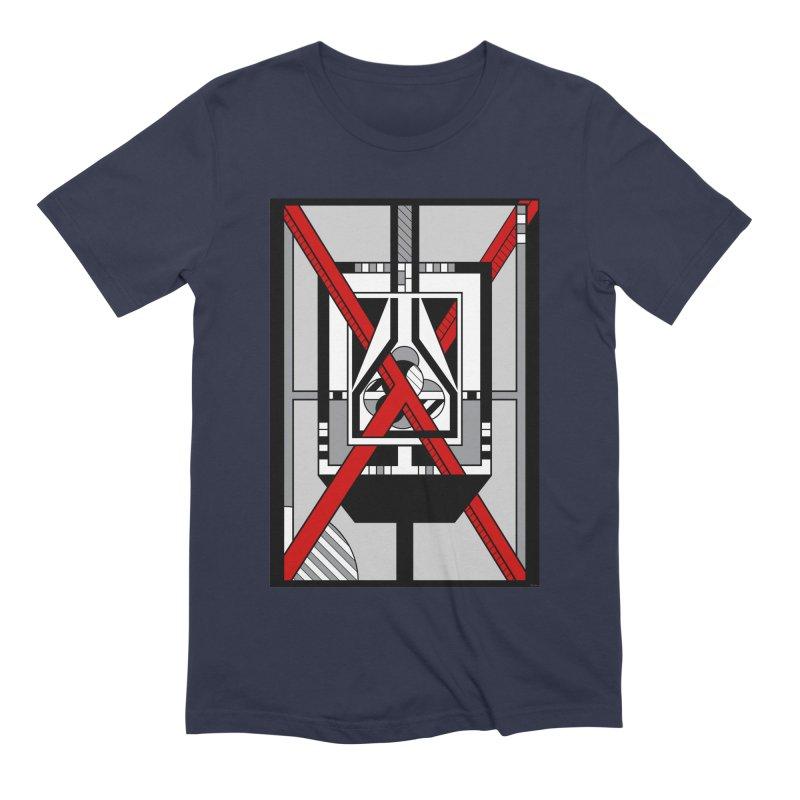 Red X - Geometric Op Art Design Men's T-Shirt by RML Studios: The Art & Design of Ryan Livingston