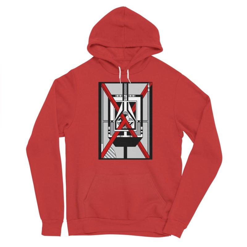 Red X - Geometric Op Art Design Men's Pullover Hoody by RML Studios: The Art & Design of Ryan Livingston