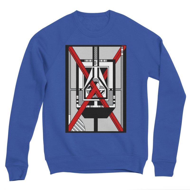 Red X - Geometric Op Art Design Men's Sweatshirt by RML Studios: The Art & Design of Ryan Livingston