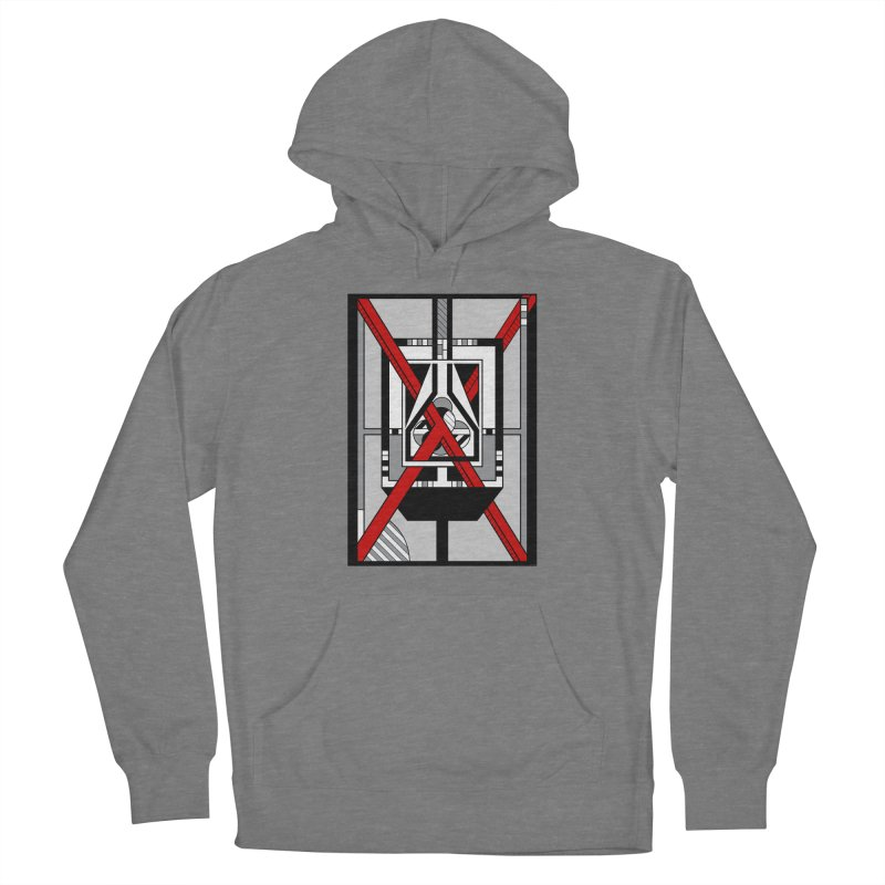 Red X - Geometric Op Art Design Women's Pullover Hoody by RML Studios: The Art & Design of Ryan Livingston