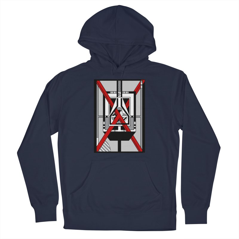 Red X - Geometric Op Art Design Men's Pullover Hoody by RML Studios: The Art & Design of Ryan Livingston