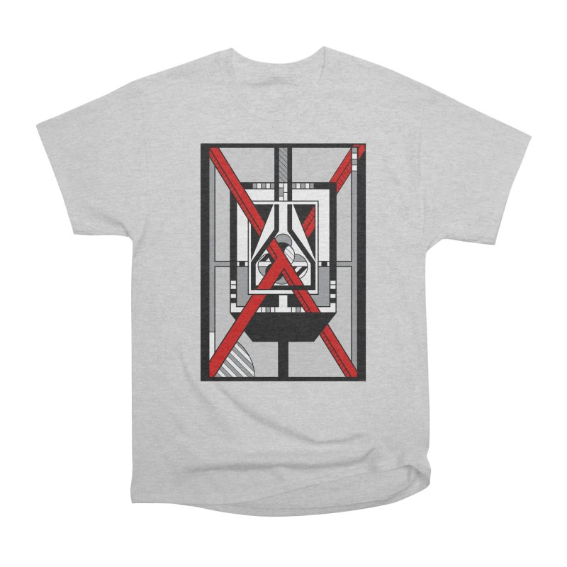 Red X - Geometric Op Art Design Men's T-Shirt by RML Studios: The Art & Design of Ryan Livingston