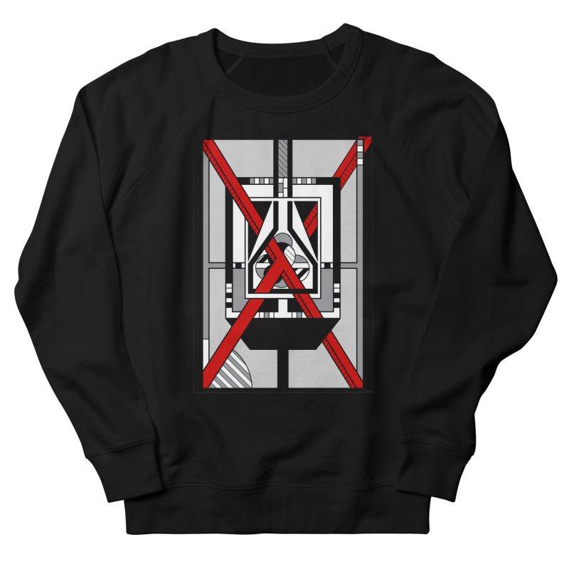 Red X - Geometric Op Art Design Women's Sweatshirt by RML Studios: The Art & Design of Ryan Livingston