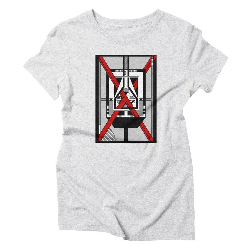 Red X - Geometric Op Art Design Women's T-Shirt by RML Studios: The Art & Design of Ryan Livingston