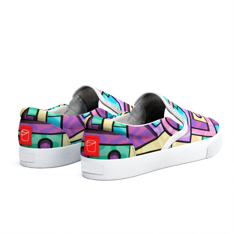 Rabbot Hutch - Brightly Colored Geometric Abstract Art Men's Shoes by RML Studios: The Art & Design of Ryan Livingston