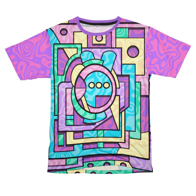 Rabbot Hutch - Brightly Colored Geometric Abstract Art Men's Cut & Sew by RML Studios: The Art & Design of Ryan Livingston