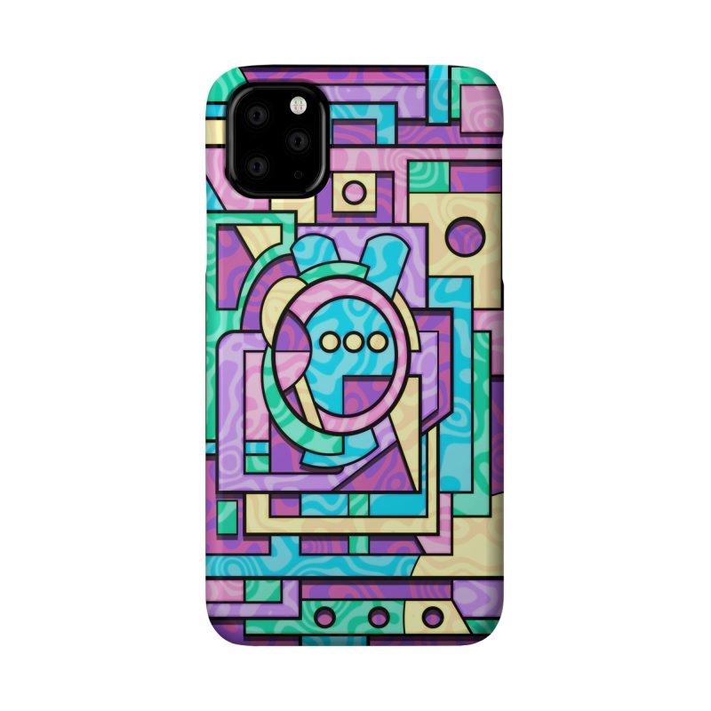 Rabbot Hutch - Brightly Colored Geometric Abstract Art Accessories Phone Case by RML Studios: The Art & Design of Ryan Livingston