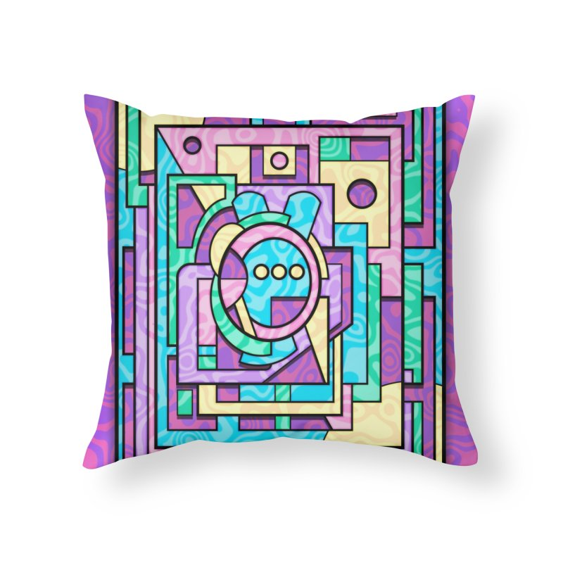 Rabbot Hutch - Brightly Colored Geometric Abstract Art Home Throw Pillow by RML Studios: The Art & Design of Ryan Livingston