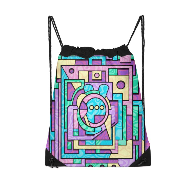 Rabbot Hutch - Brightly Colored Geometric Abstract Art Accessories Bag by RML Studios: The Art & Design of Ryan Livingston