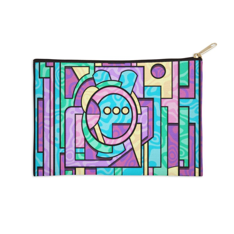Rabbot Hutch - Brightly Colored Geometric Abstract Art Accessories Zip Pouch by RML Studios: The Art & Design of Ryan Livingston