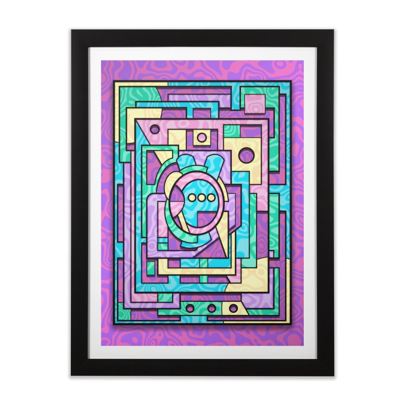 Rabbot Hutch - Brightly Colored Geometric Abstract Art Home Framed Fine Art Print by RML Studios: The Art & Design of Ryan Livingston