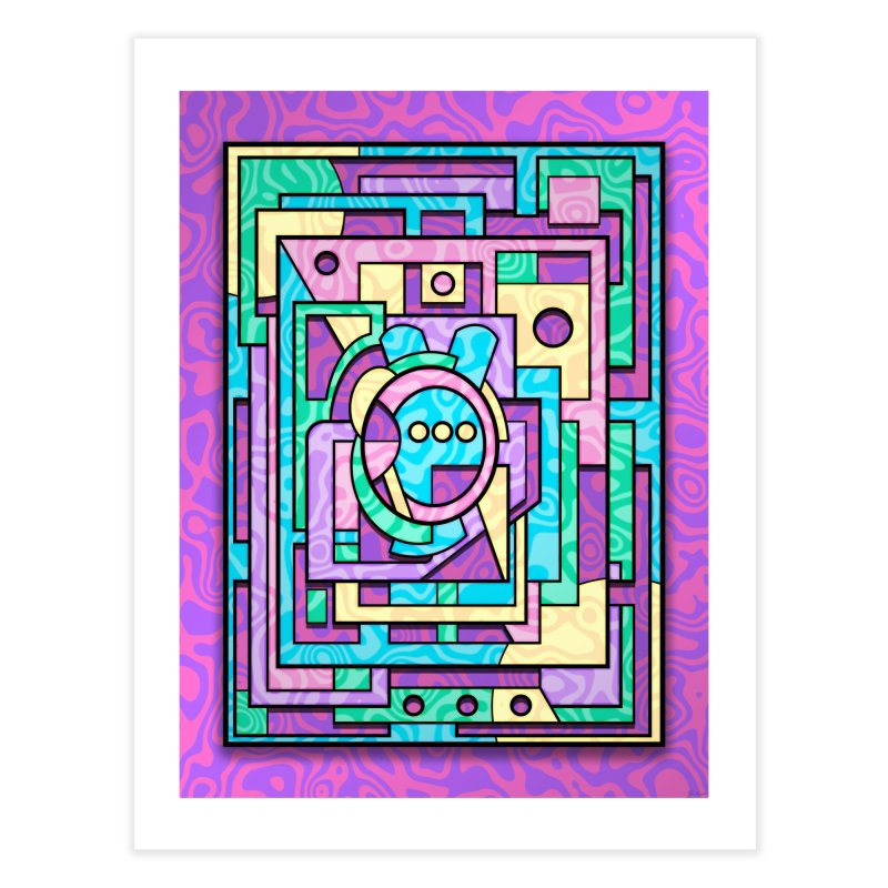 Rabbot Hutch - Brightly Colored Geometric Abstract Art Home Fine Art Print by RML Studios: The Art & Design of Ryan Livingston
