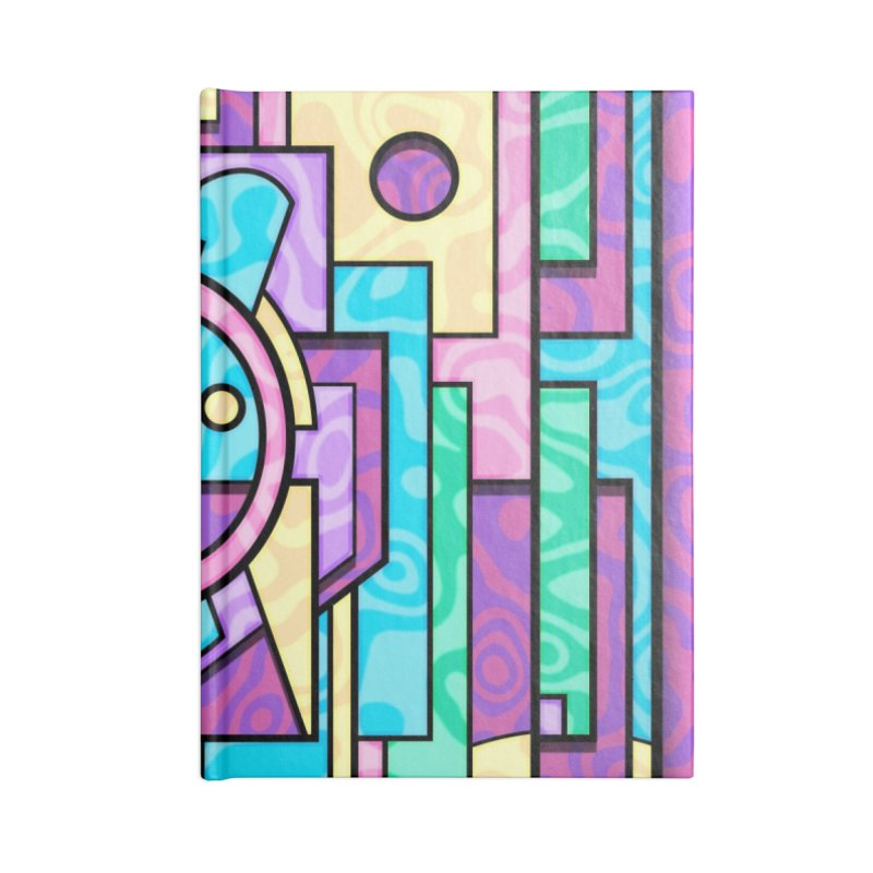 Rabbot Hutch - Brightly Colored Geometric Abstract Art Accessories Notebook by RML Studios: The Art & Design of Ryan Livingston