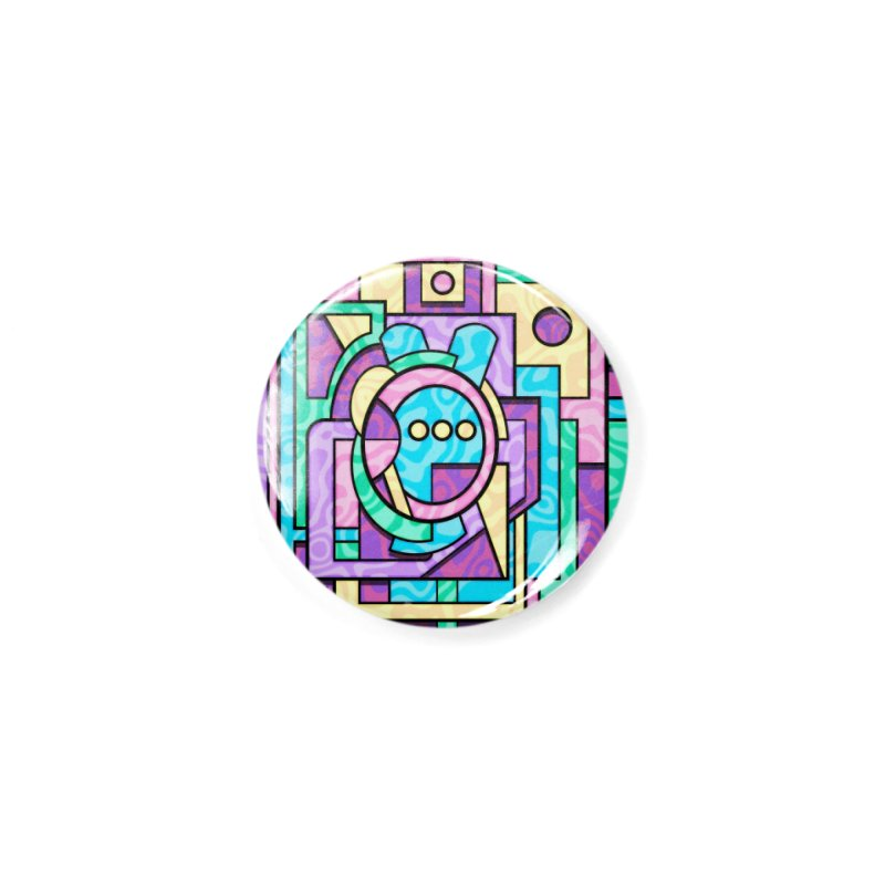 Rabbot Hutch - Brightly Colored Geometric Abstract Art Accessories Button by RML Studios: The Art & Design of Ryan Livingston