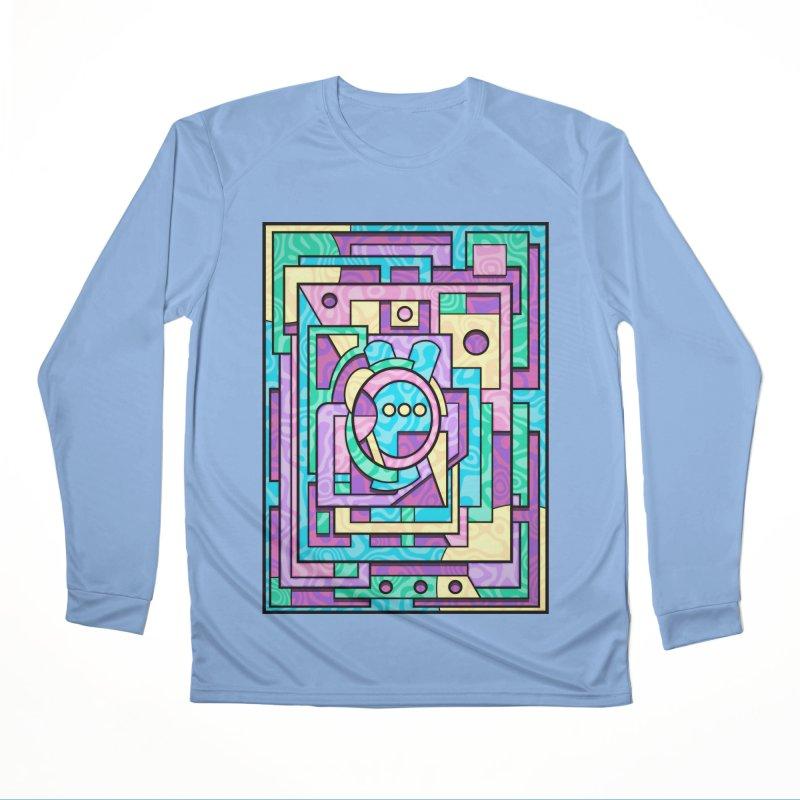 Rabbot Hutch - Brightly Colored Geometric Abstract Art Men's Longsleeve T-Shirt by RML Studios: The Art & Design of Ryan Livingston
