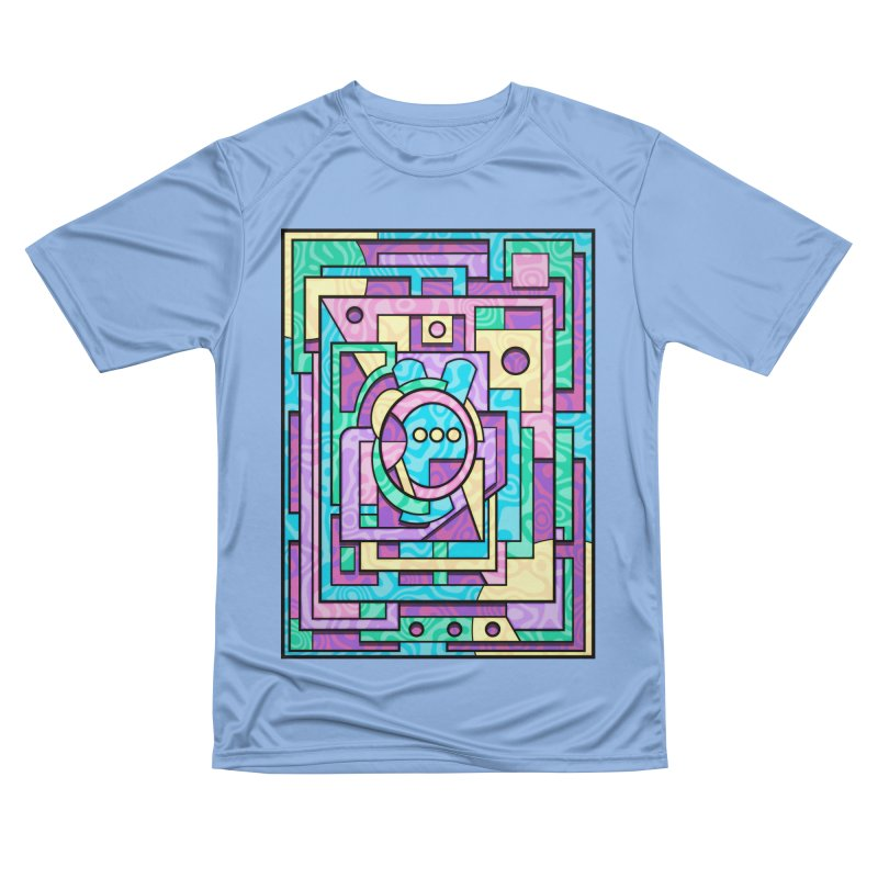 Rabbot Hutch - Brightly Colored Geometric Abstract Art Men's T-Shirt by RML Studios: The Art & Design of Ryan Livingston