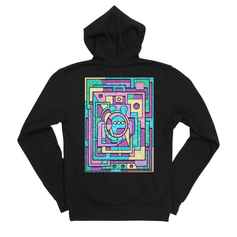 Rabbot Hutch - Brightly Colored Geometric Abstract Art Men's Zip-Up Hoody by RML Studios: The Art & Design of Ryan Livingston