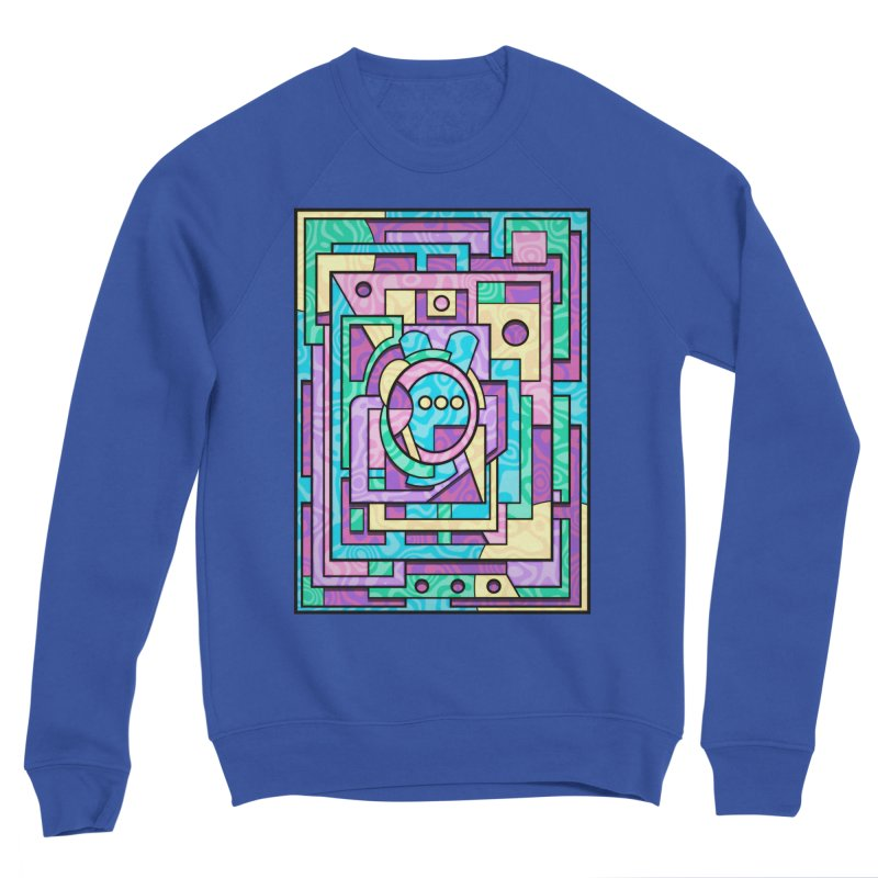 Rabbot Hutch - Brightly Colored Geometric Abstract Art Men's Sweatshirt by RML Studios: The Art & Design of Ryan Livingston