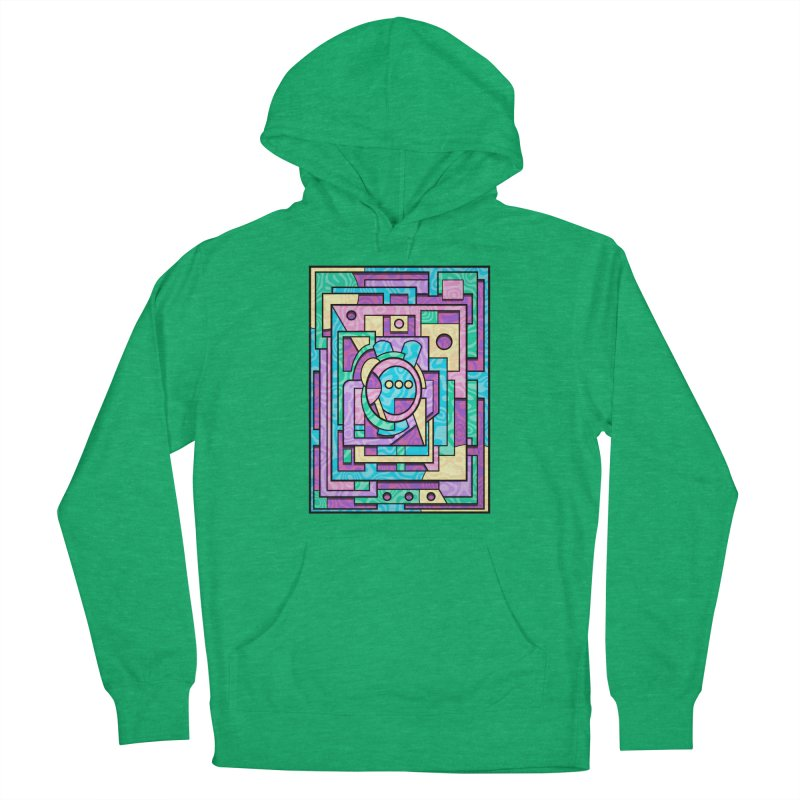 Rabbot Hutch - Brightly Colored Geometric Abstract Art Women's Pullover Hoody by RML Studios: The Art & Design of Ryan Livingston