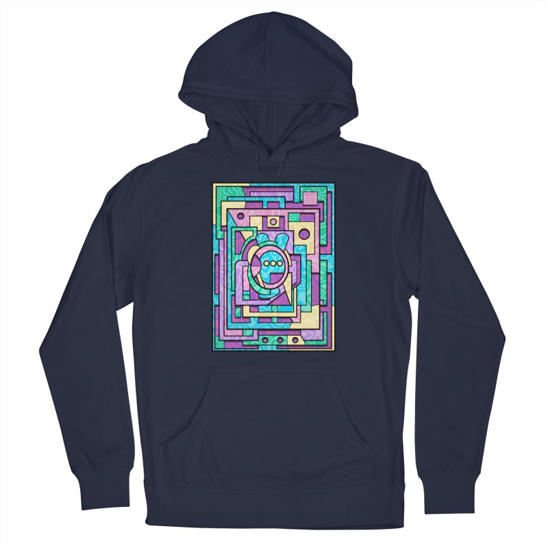 Rabbot Hutch - Brightly Colored Geometric Abstract Art Men's Pullover Hoody by RML Studios: The Art & Design of Ryan Livingston