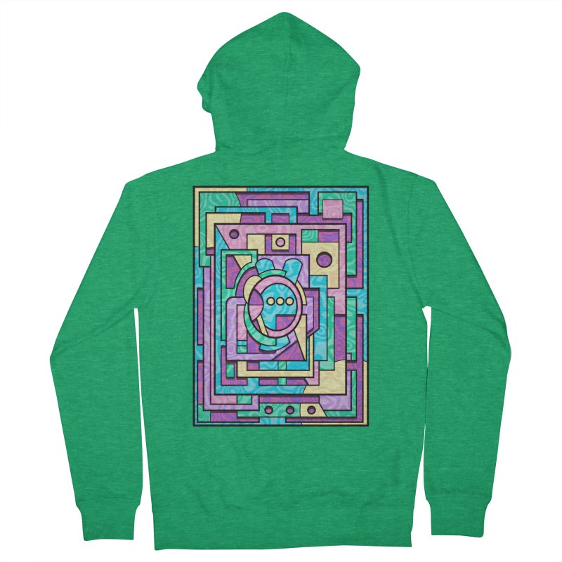 Rabbot Hutch - Brightly Colored Geometric Abstract Art Women's Zip-Up Hoody by RML Studios: The Art & Design of Ryan Livingston