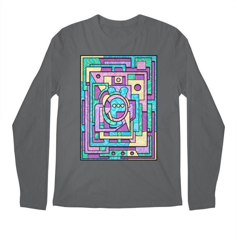 Rabbot Hutch - Brightly Colored Geometric Abstract Art Men's Longsleeve T-Shirt by RML Studios: The Art & Design of Ryan Livingston